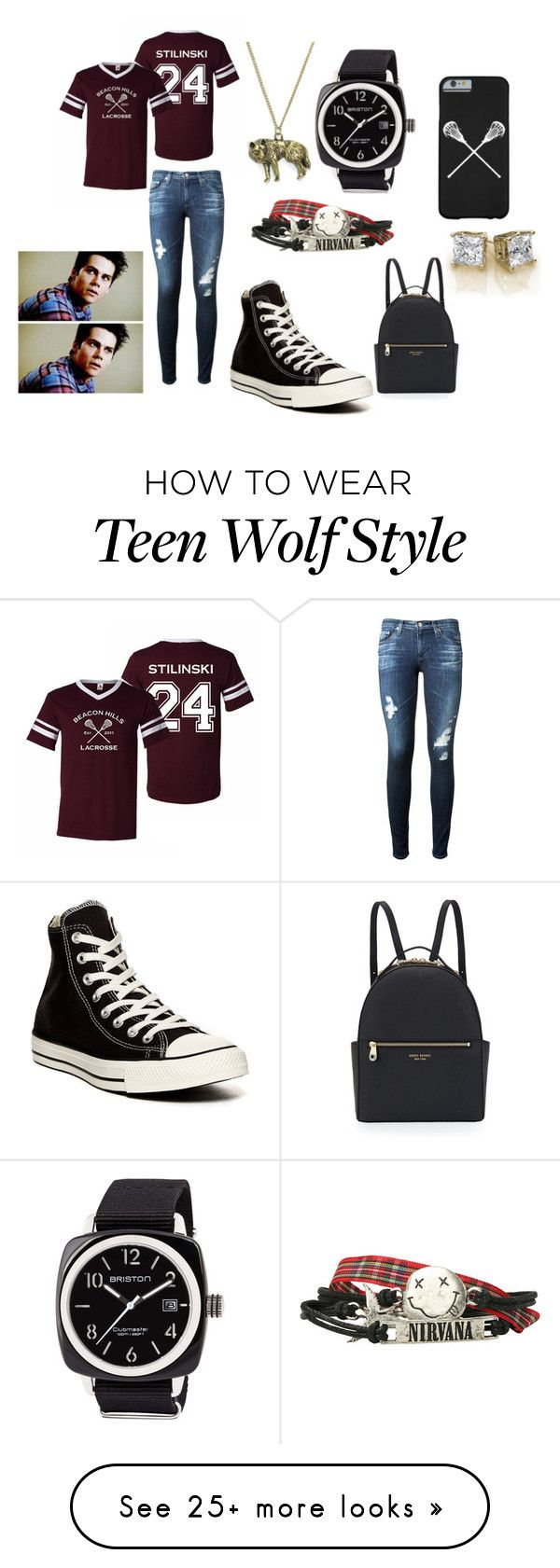 """""""Outfit #33"""" by phoenkx on Polyvore featuring AG Adriano Goldschmied, Converse, Henri Bendel and Briston"""