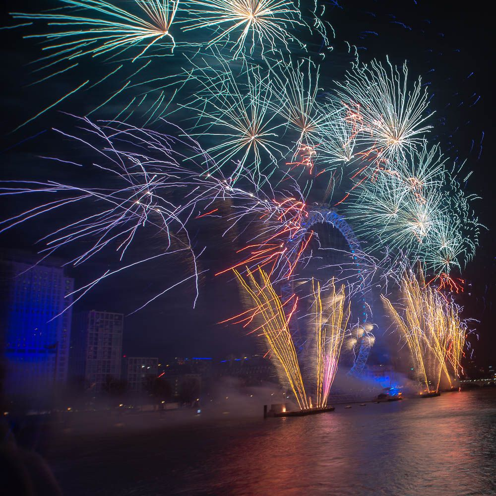 2017 New Years eve/day London fireworks (my first fire