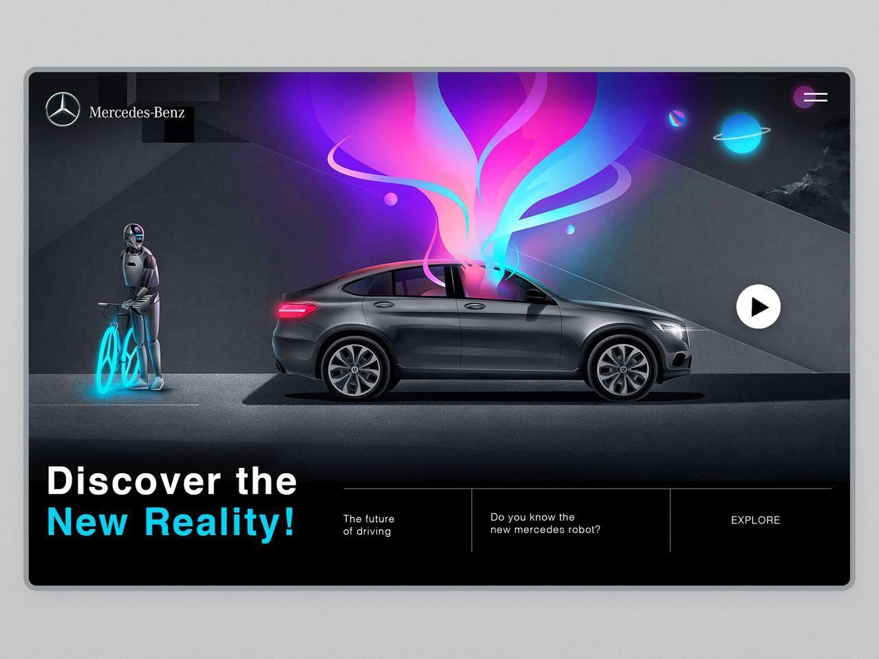 Mercedes Benz Connect Me Robot Illo Leo Natsume Mercedes Benz Benz Robot Design