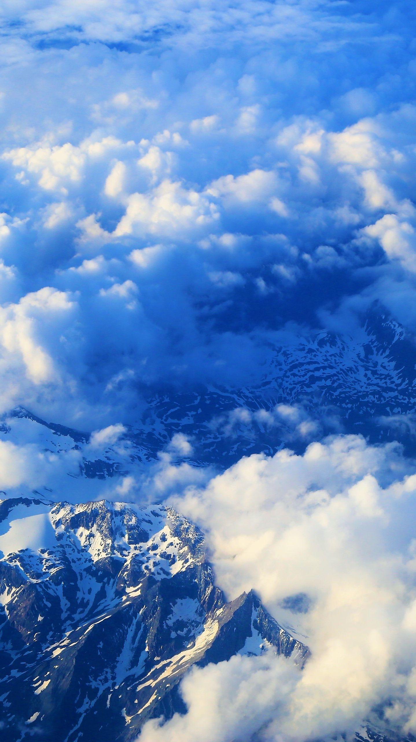 clouds mountain sky