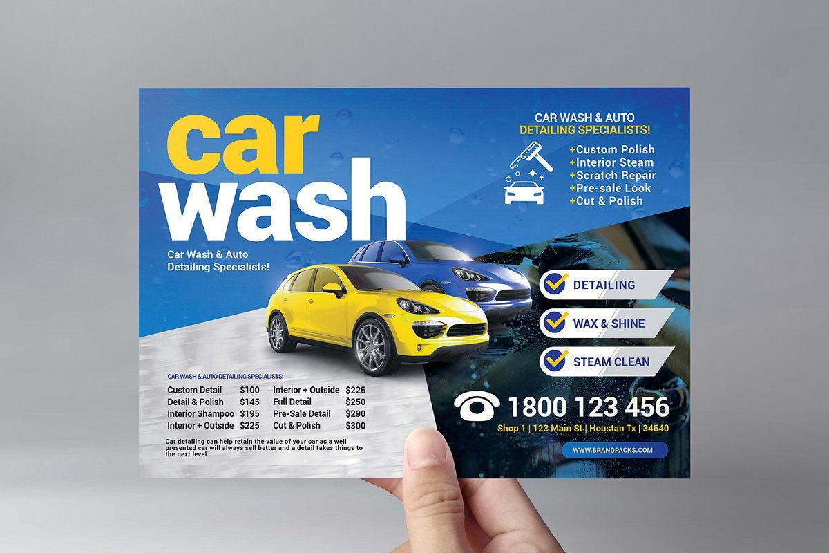 Car Wash Templates Pack Template Car Wash Posters Car Wash Flyer Template