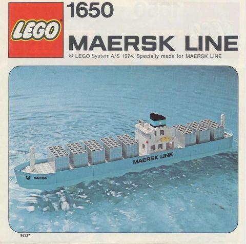 Set 1650-1 : Maersk Line Container Ship [Boat] - BrickLink Reference ...