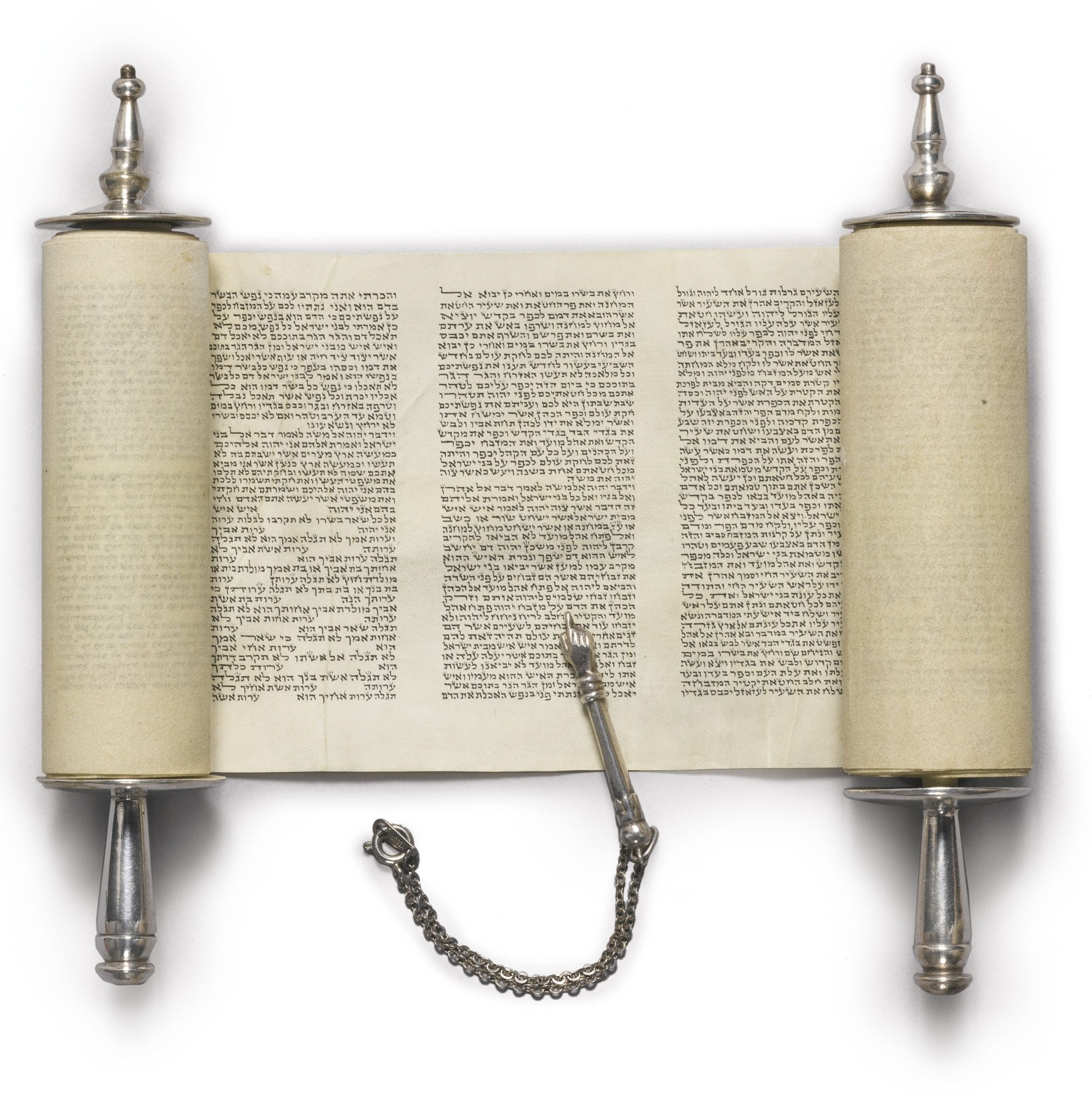 Minuscule Torah Scroll [Germany; 19th century] Scroll (3 in. x 29 ...