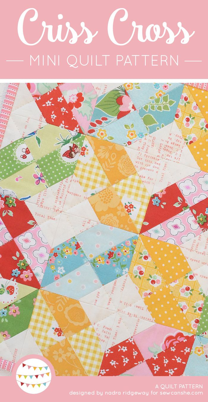 A free mini quilt pattern + Riley Blake Giveaway | Mini quilt ...