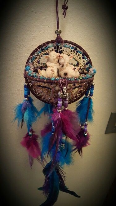 Pigs love dream catcher orb SOLD $80.00