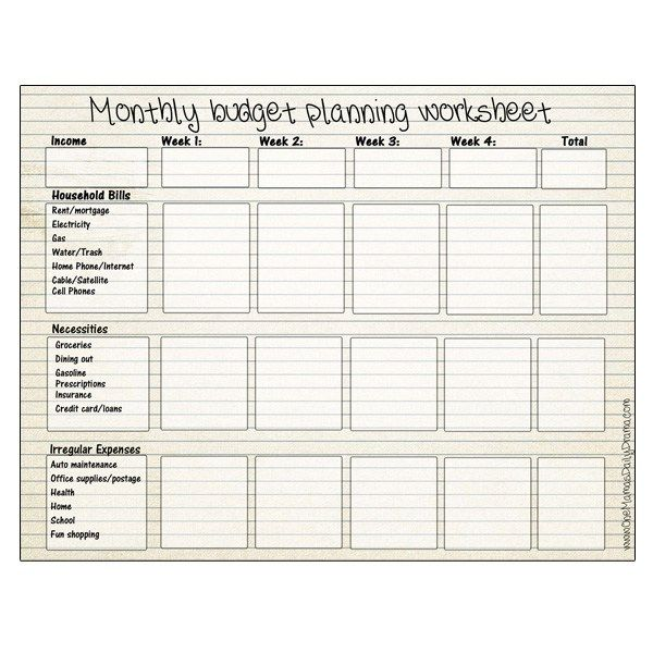 Printable Monthly Budget Planning Worksheet To Track Spending Budgeting Worksheets Printable Budget Worksheet Budget Planning Worksheet