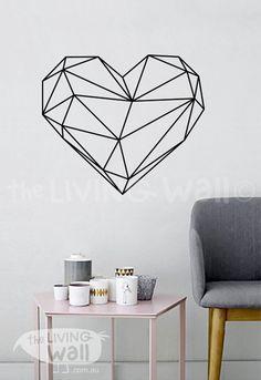 Geometric Heart Wall Decal Geometric Heart Wall Art by LivingWall