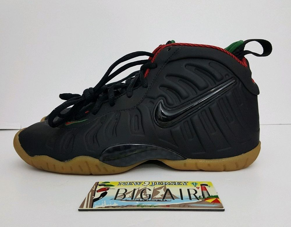 the best attitude 0eff1 7f24e Nike Little Foamposite Pro Guccy Black Gorge Green Gold Red ...