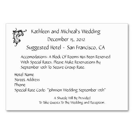 wedding accommodation template