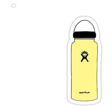 Yellow Hydroflask Sticker In 2019 Products Stickers Bubble