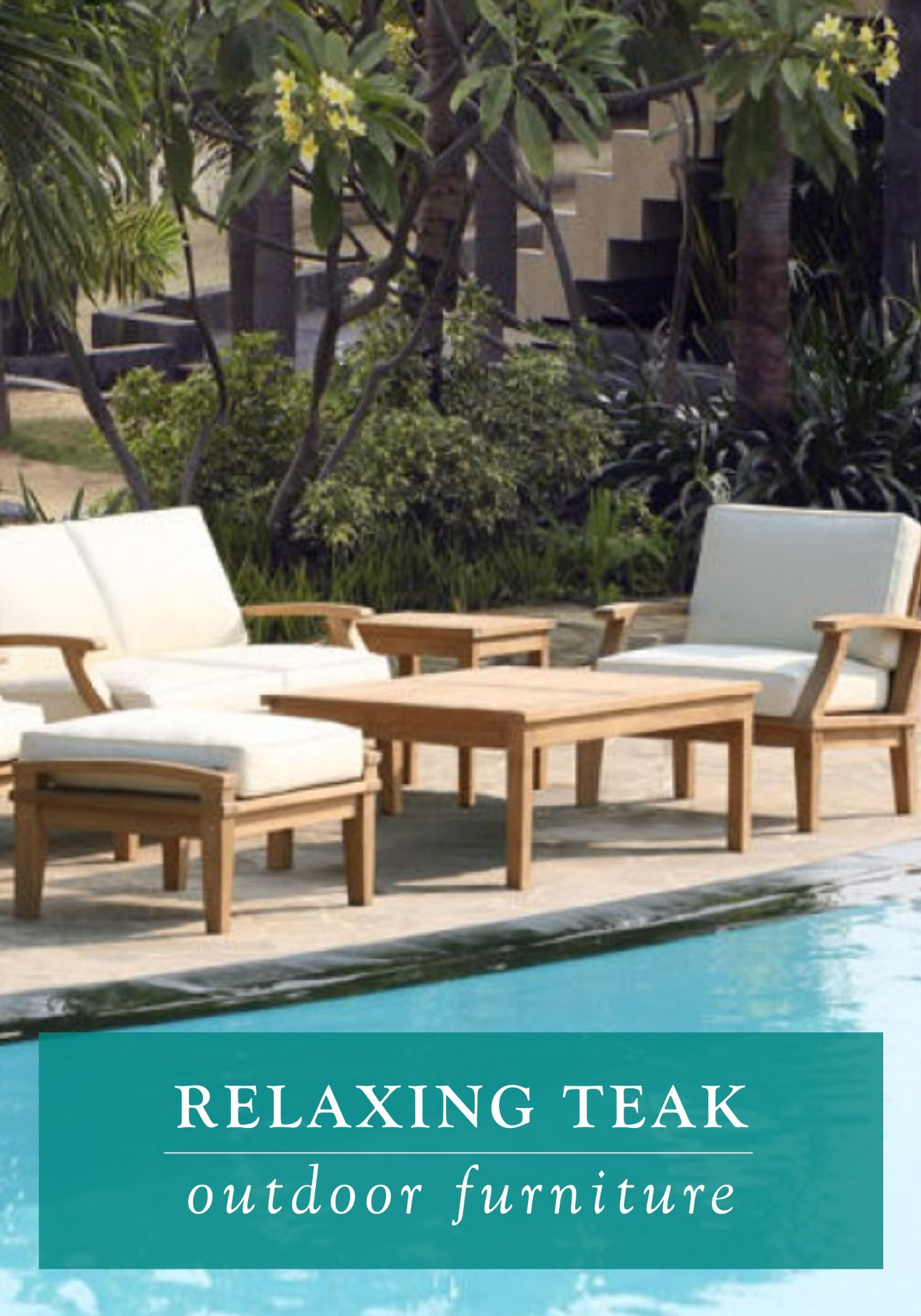 st barts 6 piece deep seating teak outdoor set grow teak rh nz pinterest com