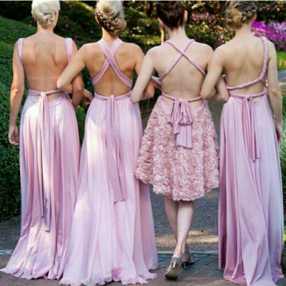 Pastel pink bridesmaid dress  Bridesmaids dresseslove the different styles  Wedding Bells