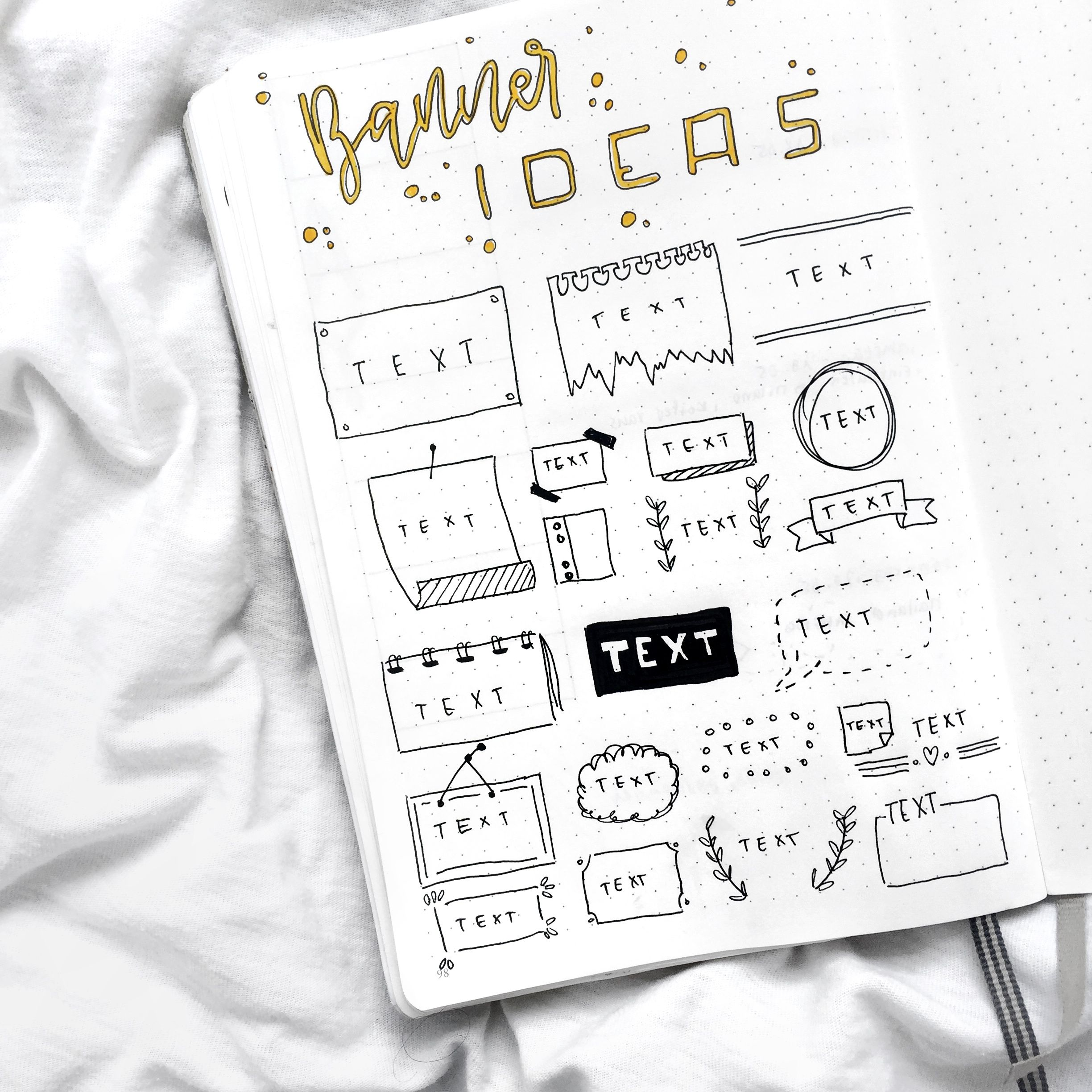 35+ Ideas For Banner Ideas Journal