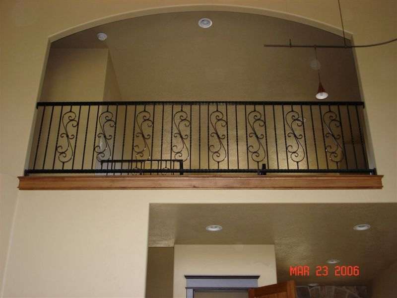 indoor balcony railing
