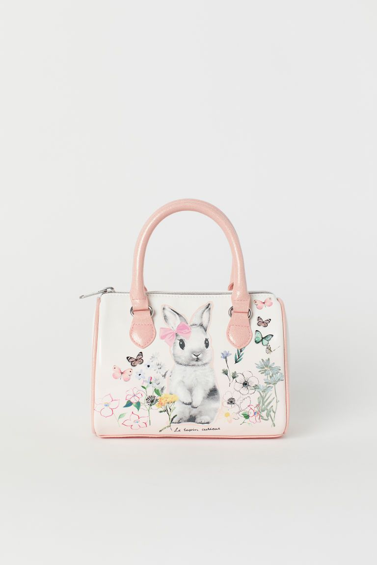 6473a164c36b3 Patterned Handbag - Powder pink/rabbit - Kids | H&M US. Find this Pin and  more on Little girl bags ...