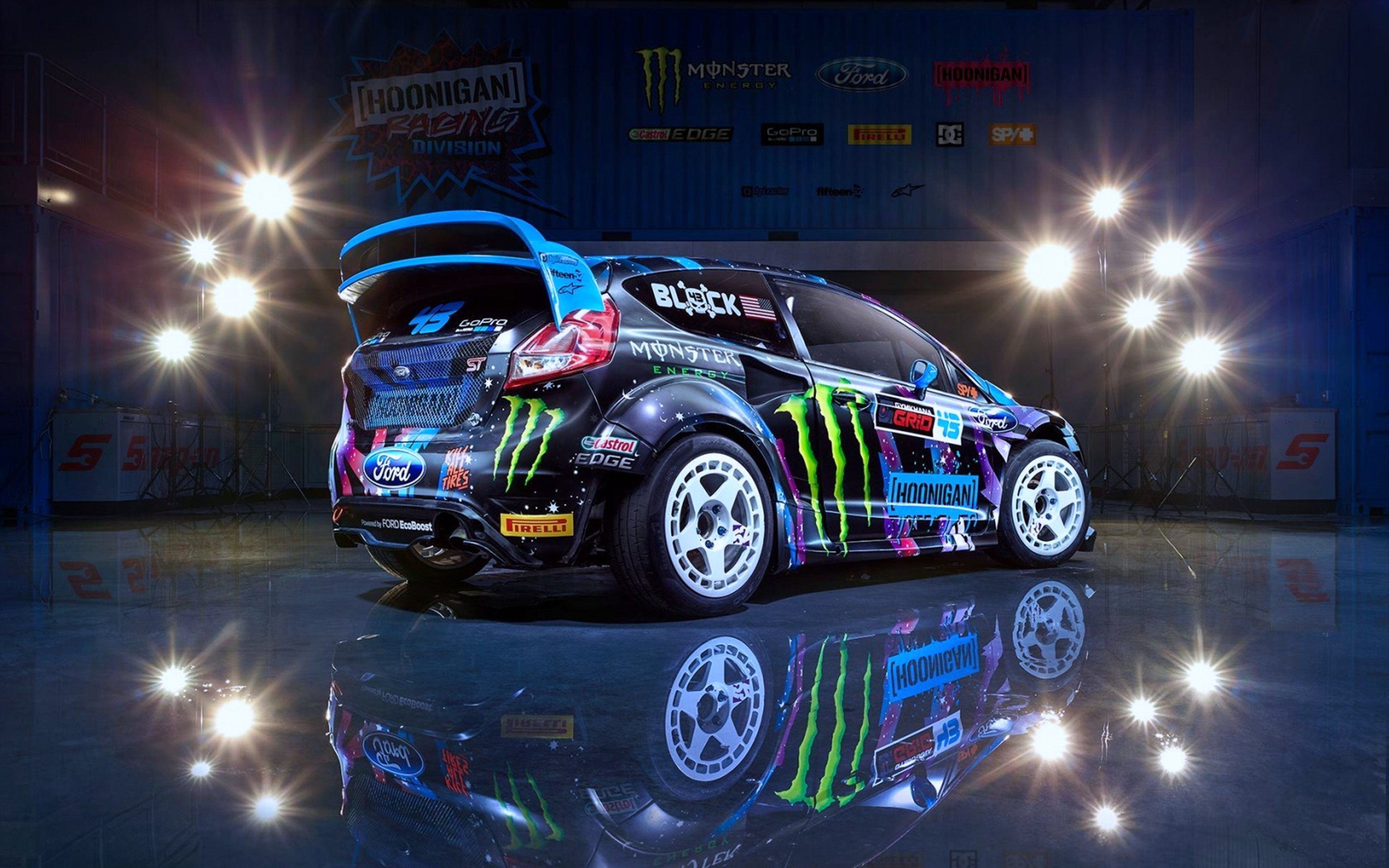 2015 Block Cars Colors Division Fiesta Ford Hoonigan Ken Motors Race Racing Rear Rx43 Sport Wallpaper 3840x2400 657053 Wall Rally Car Ken Block Cool Cars