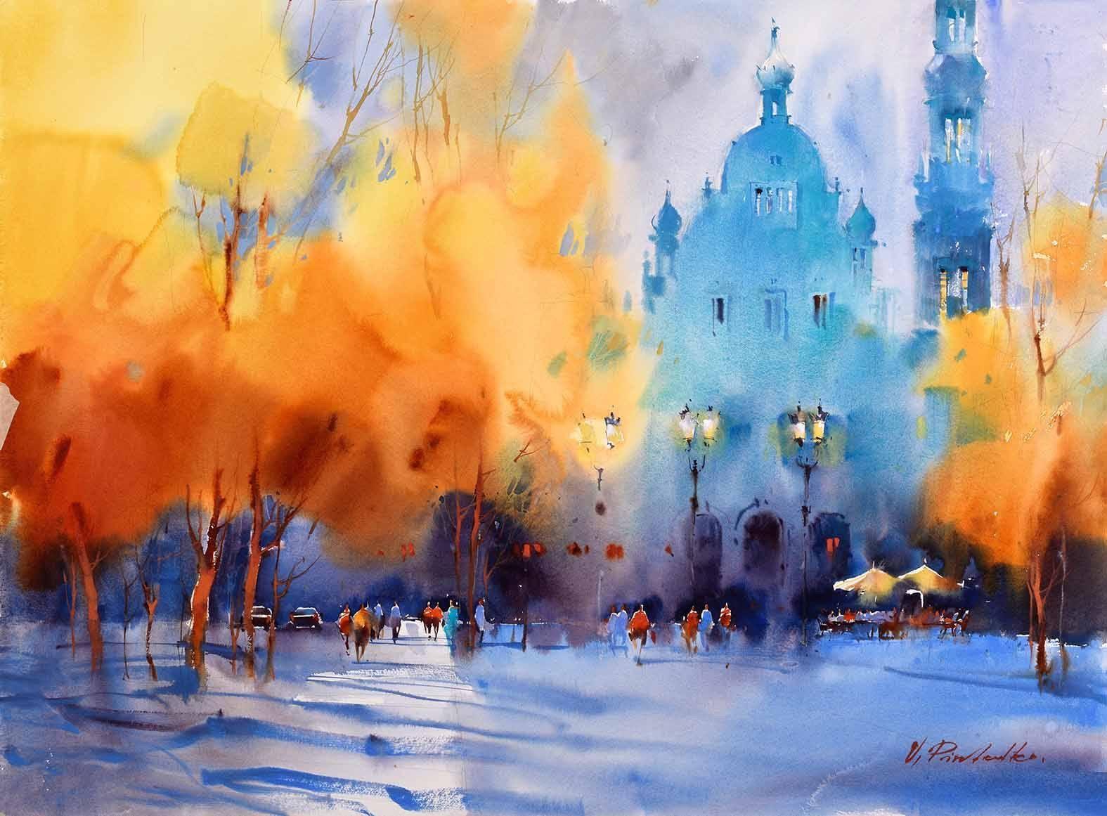 Viktoria Prischedko Watercolor Art Ilustracion Acuarela