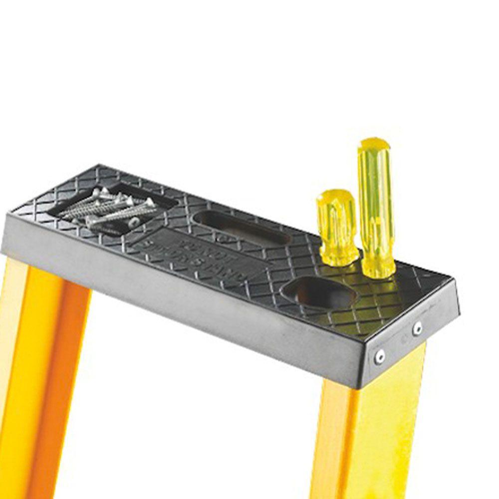 Glass Fibre Folding Steps with a Top Platform