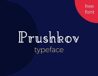 Vedi questo progetto @Behance: \u201cPrushkov - Free Typeface\u201d https://www.behance.net/gallery/51277483/Prushkov-Free-Typeface