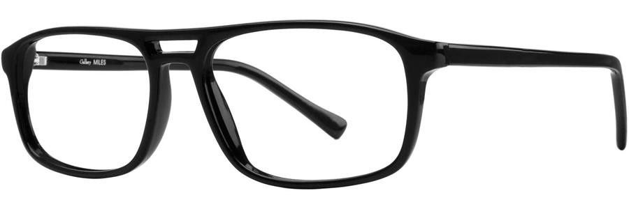 Gallery MILES Black Eyeglasses Size52-18-140.00