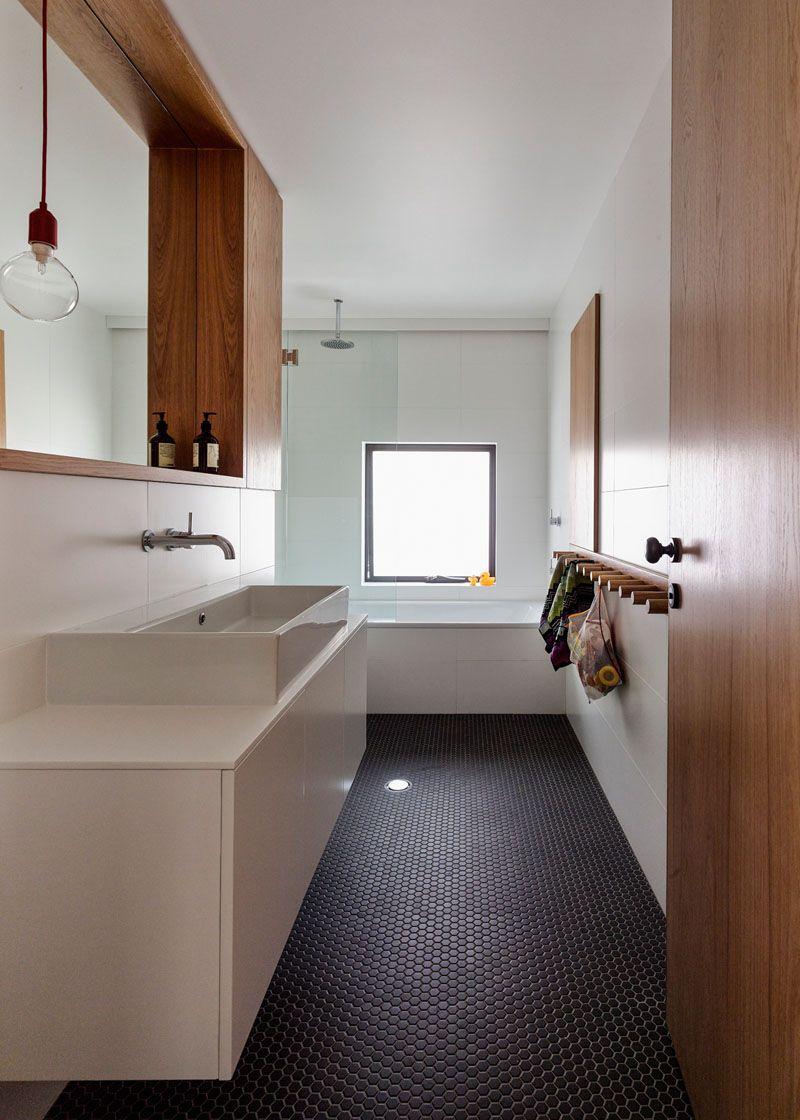 Bathroom Tile Ideas   Grey Hexagon Tiles // Dark Grey Hexagonal Penny Tiles  Cover The