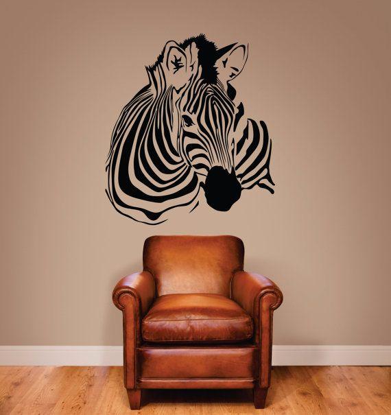 Zebra Wall Decal Zebra Stripe Decal Zebra Decor By Signjunkies