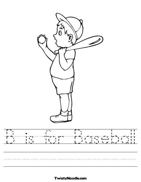 baseball coloring pages for preschoolers | Pin by Sherri Osborn {Family Crafts} on Baseball Crafts ...