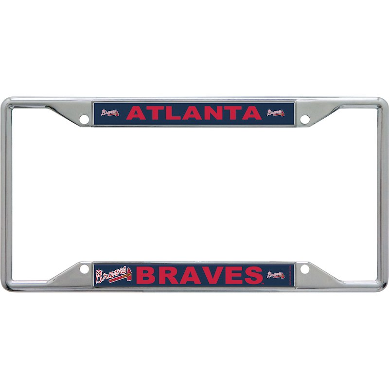 Atlanta Braves WinCraft Acrylic Mega License Plate Frame | Products ...