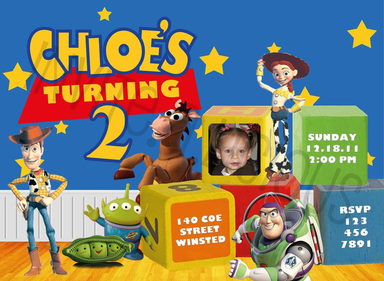 Customize this disney toy story birthday invitation