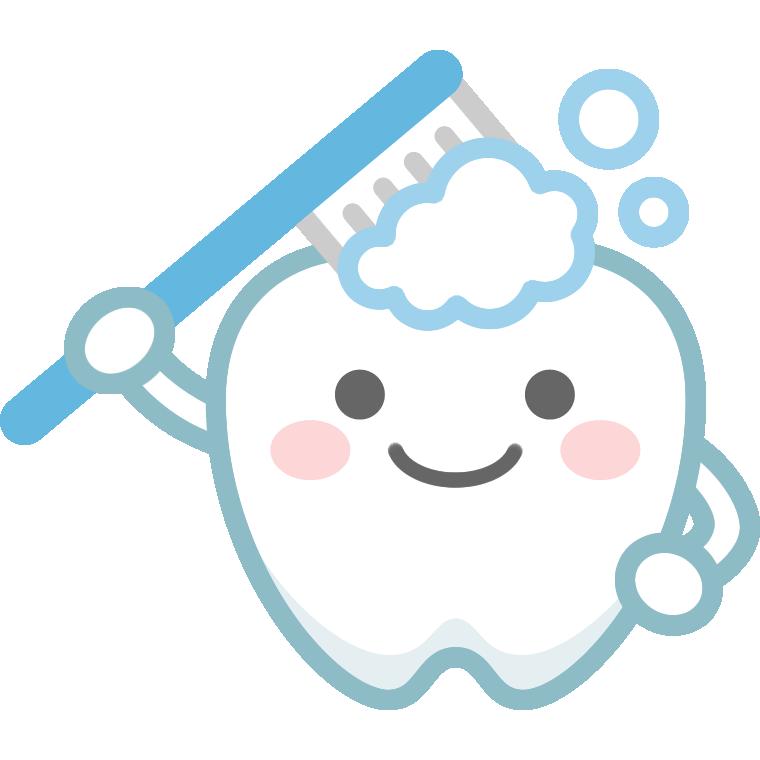 歯のイラスト歯磨きをする可愛い歯のキャラクター Popアレコレ