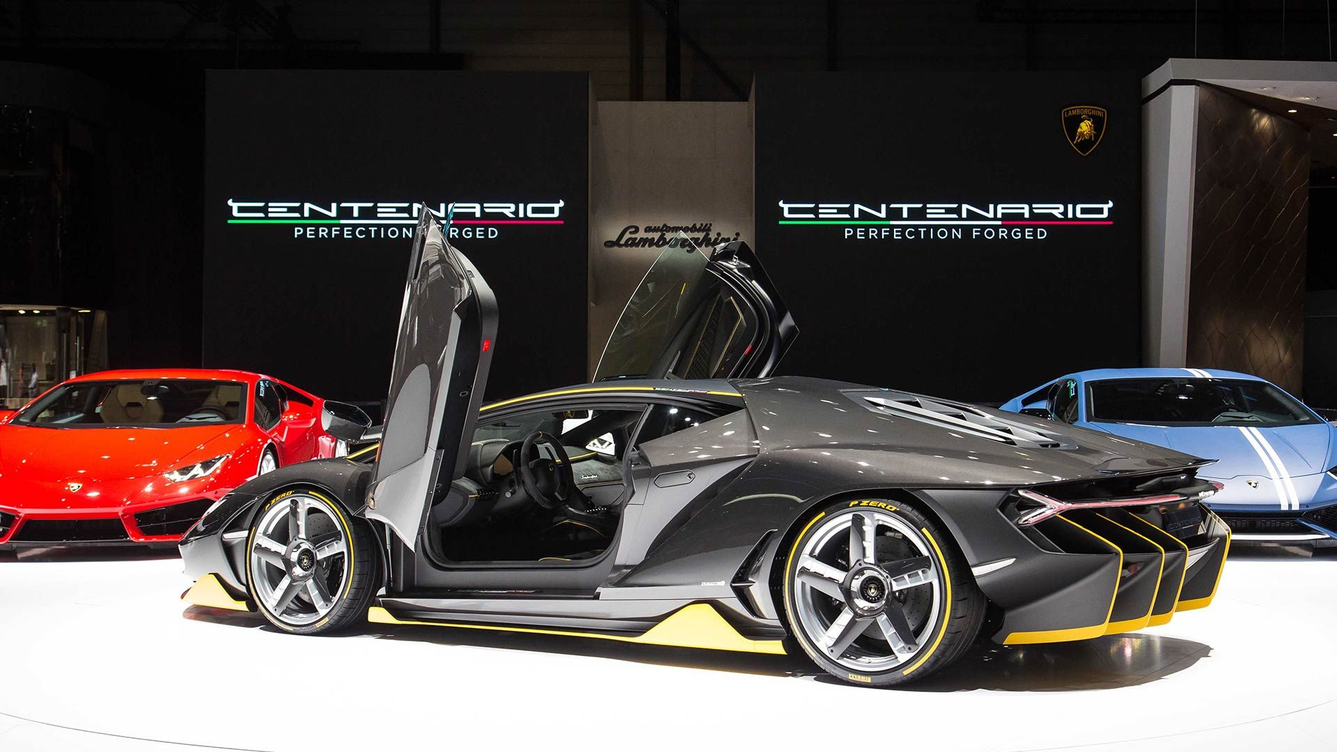 out volkswagen the show paris sits centenario at and on international a geneva display motor in pulls of bentley lamborghini