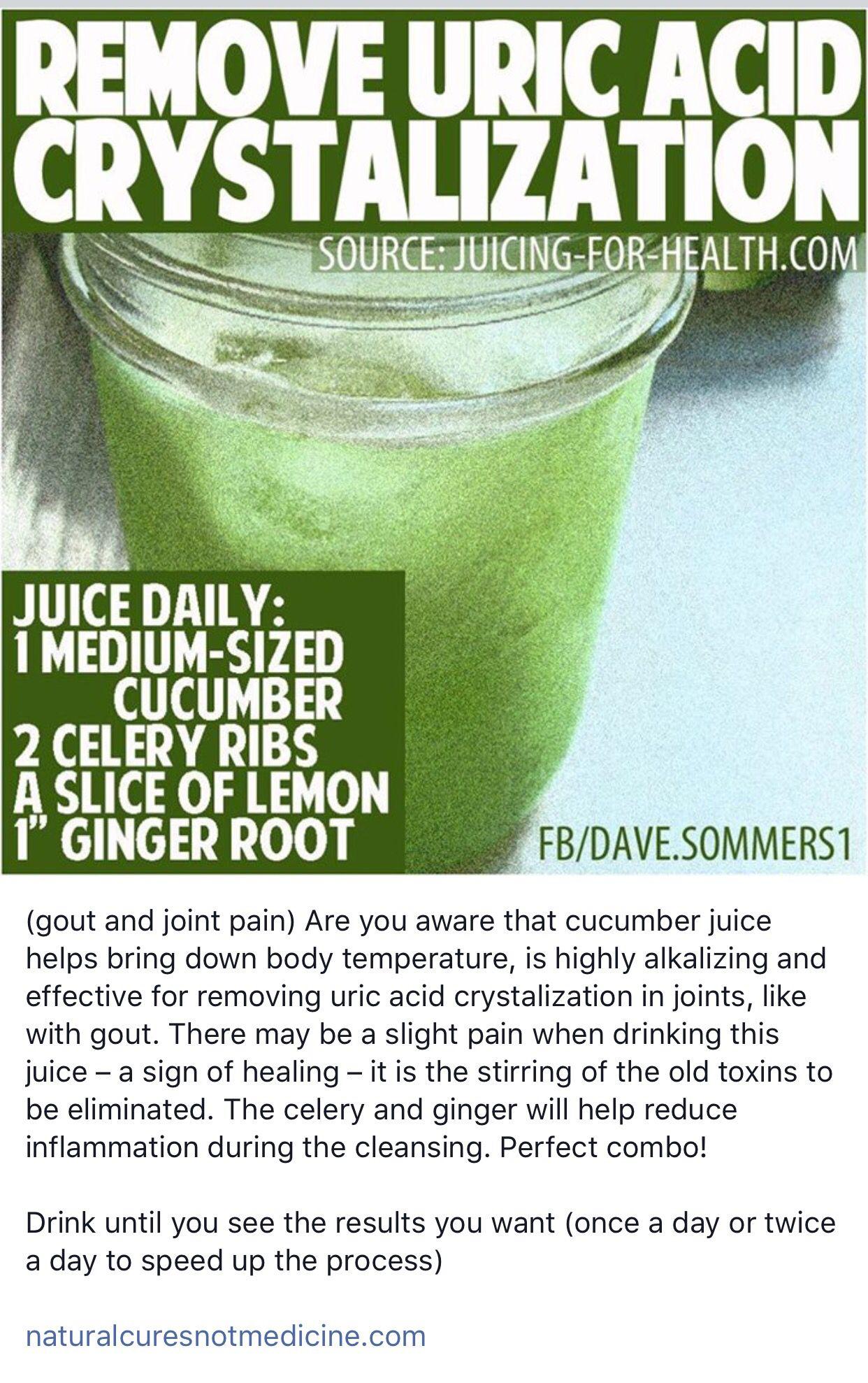 Juice to remove uric acid