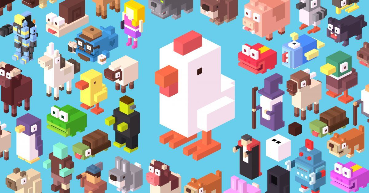 Game Character Design Apps : Everyones talking about crossy road  the addicting new app thats