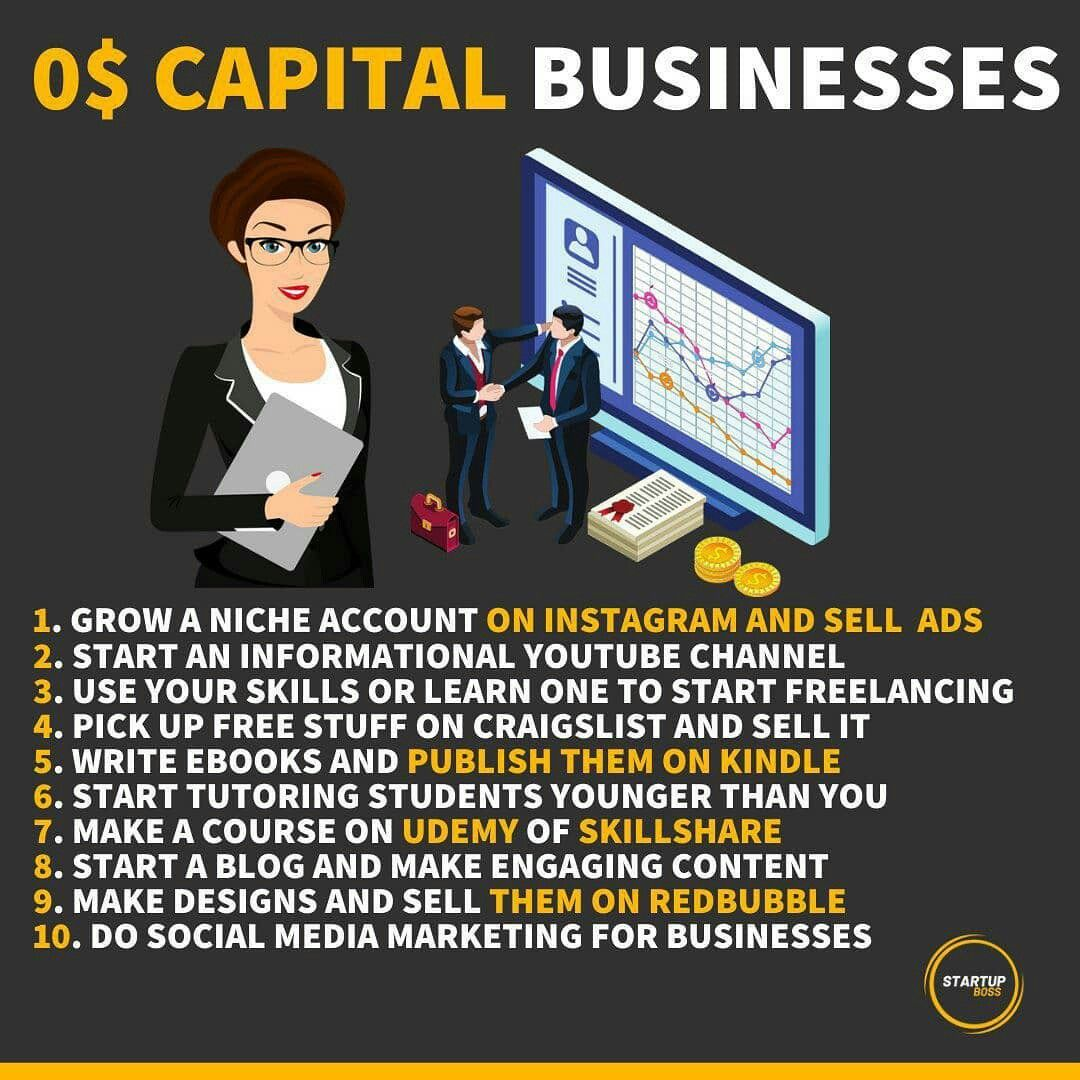 Learn skills how to start your business without any noney