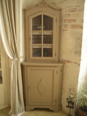 Transformation du0027un petit meuble du0027angle - meuble transformé - Moderniser Un Meuble Ancien