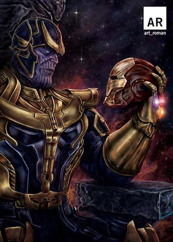 Thanos vs Iron Man 11x17 | comic stuff | Thanos marvel ...