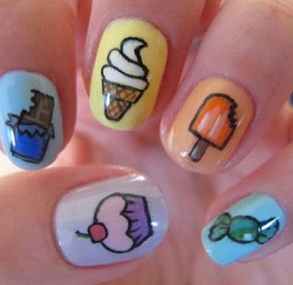 Pastel Candy Nail Art. Fun manicure for summer! | Nails | Pinterest ...