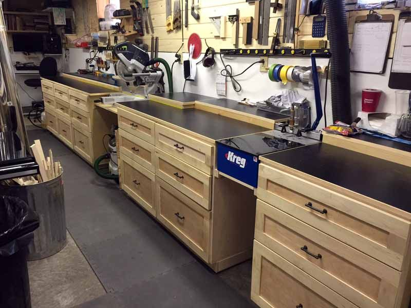 Custom Work Bench With Built In Kreg Jig And Miter Station Shop Ideas Plans Pinterest