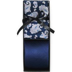 Photo of Amanda Christensen Box Set Silk 8 cm Tie With Paisley Pocket Square Na Amanda Christensen