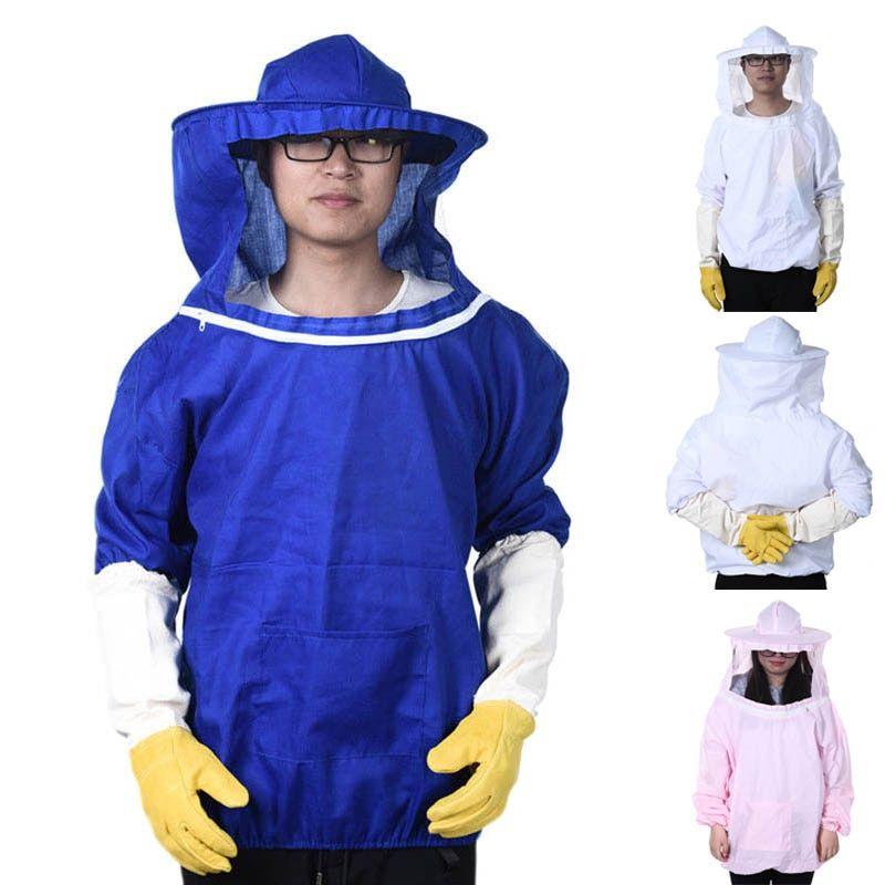 Beekeeping Jacket Veil Bee Suit Hat Pull Over Smock Protective Equipment XL