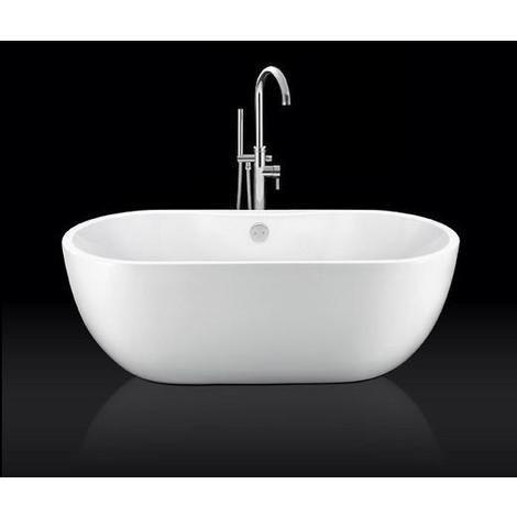 baignoire lot design ovale boston blanche 156 cm bathe. Black Bedroom Furniture Sets. Home Design Ideas