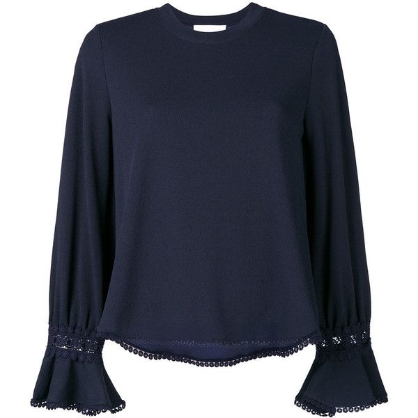 Outlet Cheapest long sleeve blouse - Blue Chloé Wiki For Sale For Sale Km16ZER6E