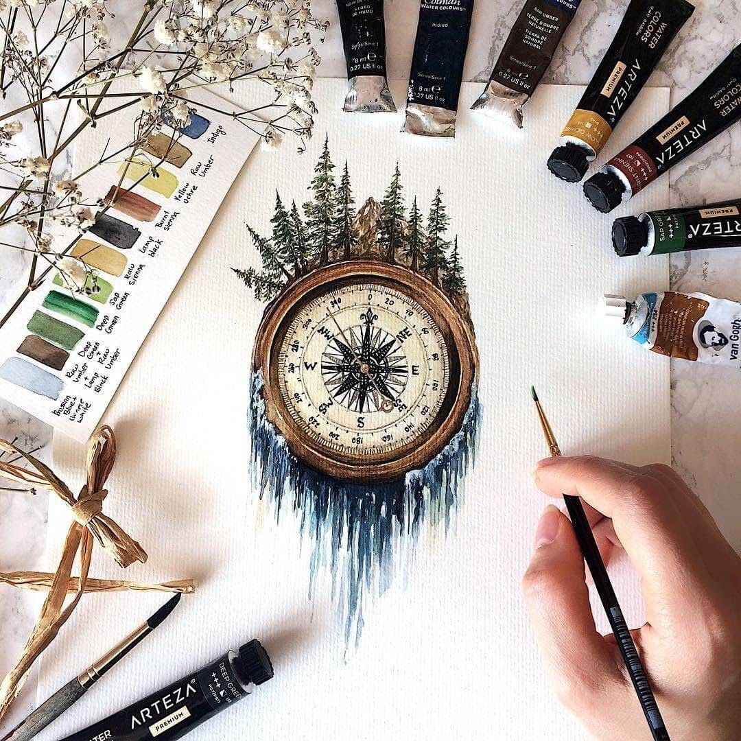 Compass Waterfall by Rosa F