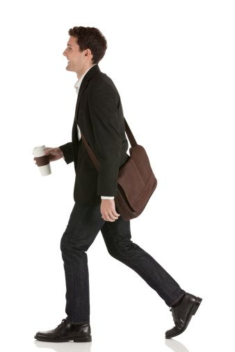Happy Businessman Walking With Business Man Artistic Motivation Film Photography