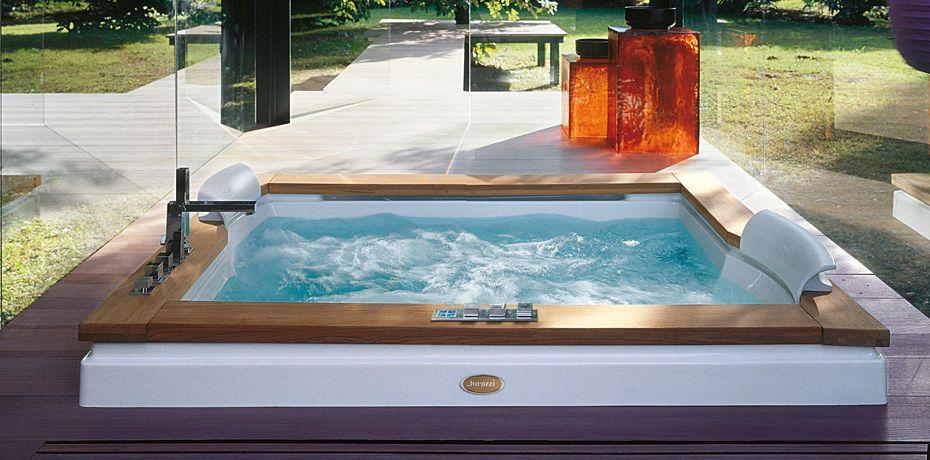two seater built-in hydromassage bath-tub AURA PLUS by Carlo ...