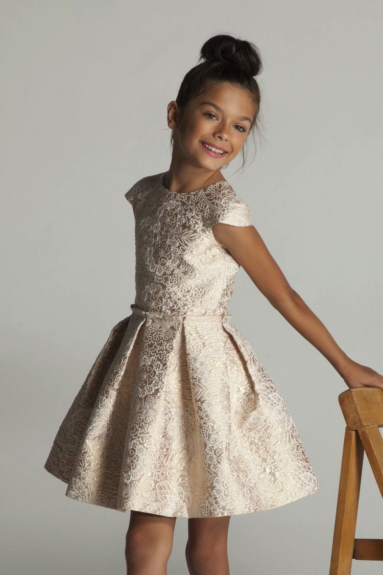 43df7556398c4 girls brocade dress | kids fashion | girls party dress | Baby and ...
