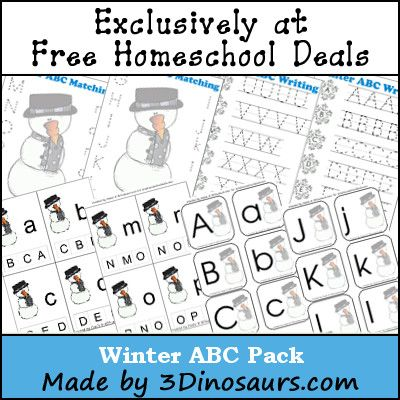 Free Winter ABC Printable Pack