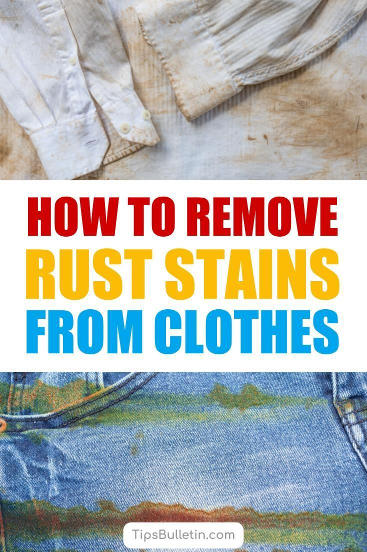 4 Clever Ways To Remove Rust Stains From Clothes Remove Rust