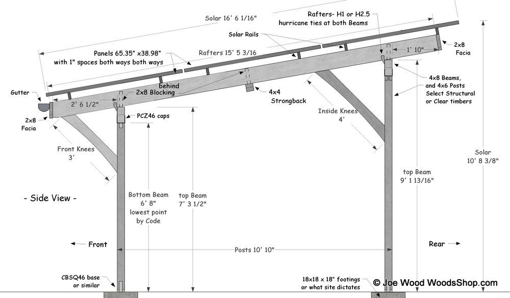 Timber Solar Carport Plans Carport Designs