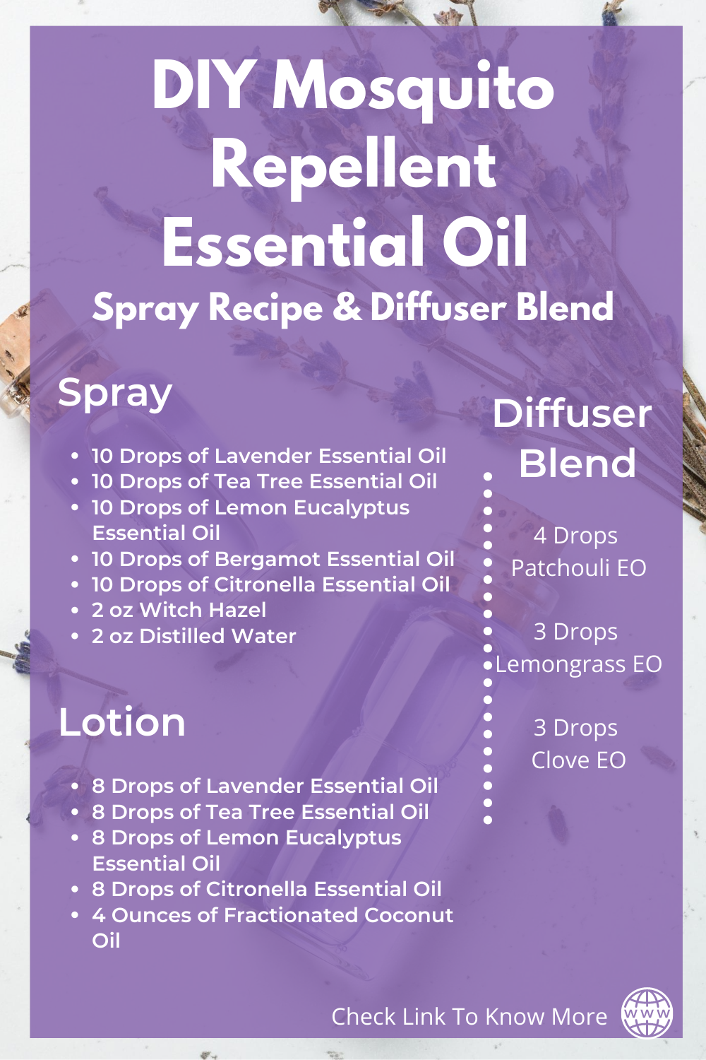 DIY Essential Oil Sprays & Diffuser Blends To Repel Bugs